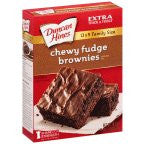 Duncan Brownie Mix Premium Chewy Fudge 18 OZ (Pack of 24)