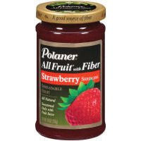 Polaner All Fruit with Fiber Strawberry Seedless Spreadable Fruit 10 oz