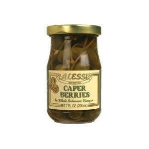 Alessi - Imported Caperberries in White Balsamic, (2)- 7 oz. Jars