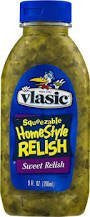 Vlasic Squeezable Home Style Sweet Relish - 9 ounce (Pack of 4)