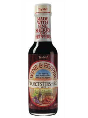 Try Me Wine & Pepper Worcestershire Sauce 5oz (Pack of 12)