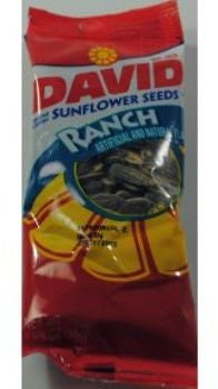 David Sunflower Seeds in Shell Ranch 1.62 oz Case Pack 48