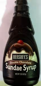 HERSHEYS ICE CREAM TOPPING DOUBLE CHOCOLATE SUNDAE TOPPING 15 OZ