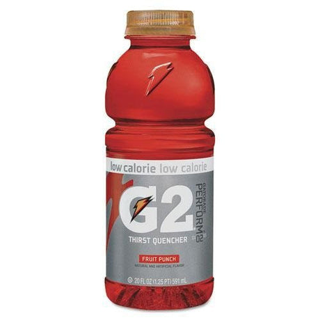 GATORADE 4053 G2 Perform 02 Low-Calorie Thirst Quencher, Fruit Punch, 20 oz Bottle, 24/Carton
