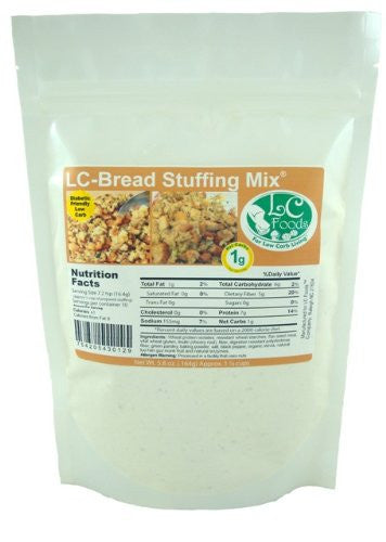 Low Carb Bread Stuffing Mix - LC Foods - All Natural - No Sugar - Diabetic Friendly - 5.8 oz