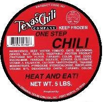 5 lb. Tub of Texas Chili with NO Beans from the Original Texas Chili Company