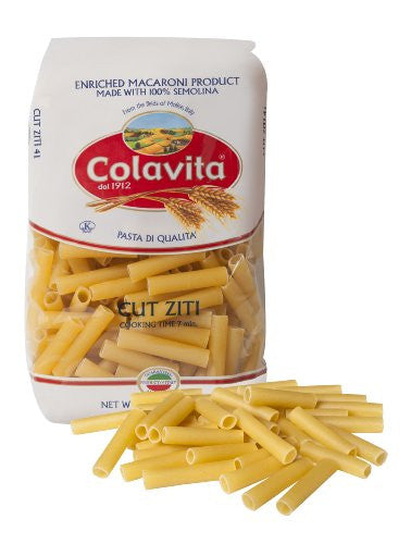 Colavita Pasta, Cut Ziti, 16 Ounce (Pack of 20)