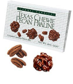 Lammies Candies Texas Chewie Pecan Pralines Candy Candies for Easter 6 Oz Box
