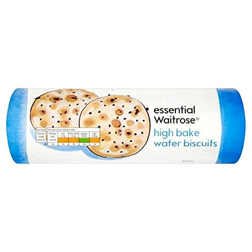 High Bake Water Biscuits essential Waitrose 200g (Pack of 6)