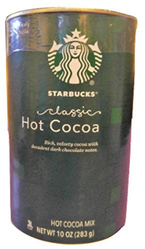 Starbucks Holiday Hot Cocoa Mix (Classic) 10 oz, Green