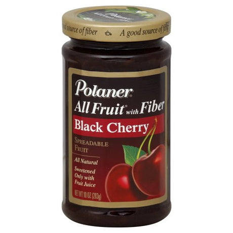Polaner All Fruit Cherry Fruit Spread with Fiber, 10 Ounce