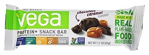 VEGA BAR, CHOC CARAMEL, PROTEIN+ , Pack of 12