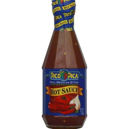 Pico Pica Mexican Hot Sauce - HOT - 15.5 Oz (Single Large Plastic Bottle)