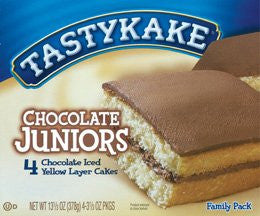 (3)Tastykakes Chocolate Juniors 3 boxes 12 cakes