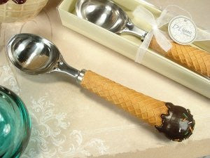 DLusso Designs 4287 Waffle Cone Design Ice CReam Scoop, Pack Of - 4.