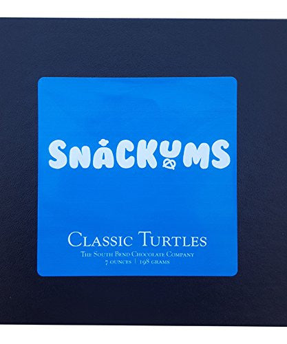 SnackUms Classic Chocolate Turtles Gift Boxed ~ Pecans ~ Chocolate ~ Caramel (7 Ounce)