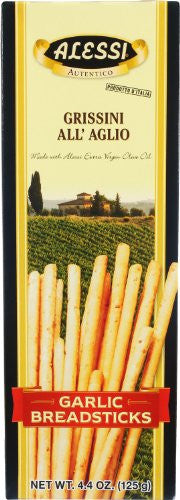 Alessi Garlic Breadsticks, 4.4-Ounce Boxes (Pack of 12)