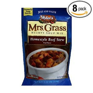 Mrs. Grass Hearty Soup Mix Homestyle Beef Stew Packages 5.57 OZ (Pack of 16)