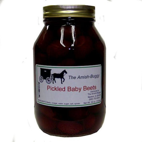 Amish Buggy Pickled Baby Beets, 32 Ounce (Pack of 12)