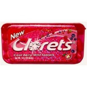 Clorets Cool Mint Tablet Candy - Cool Berry Mint Flavored 35 Tablet , 13.3g