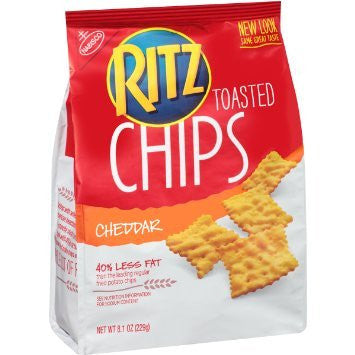 Ritz Toasted Chips - Cheddar - (pack of 4)