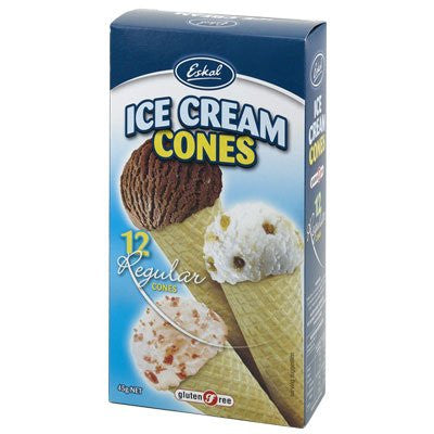 Eskal - Ice Cream Cones 12 pcs - 45g