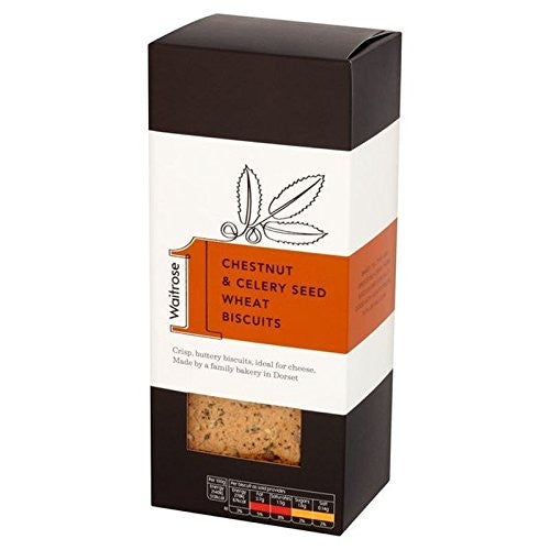 Chestnut & Celery Wheat Biscuits Waitrose 130g (Pack of 4)