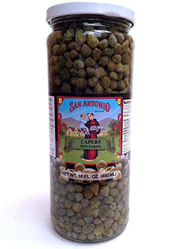 16 oz Imported Non Pareil Capers in Vinegar and Salt Brine