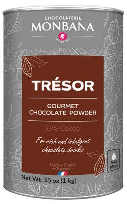 Monbana Tresor Sipping Chocolate Powder, 35 oz. Canister