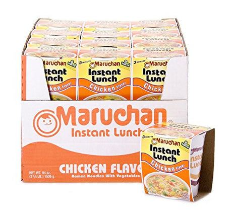 4 X Maruchan Instant Lunch Chicken Flavored Noodle Bowls 24 Pack
