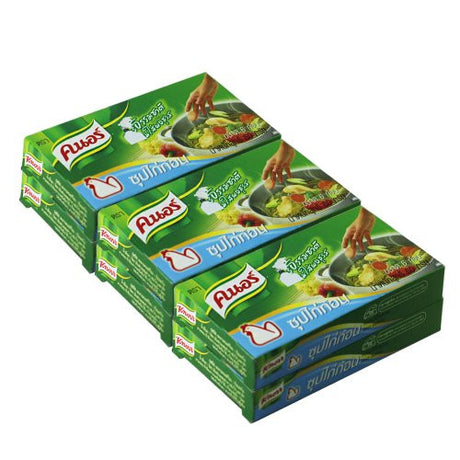 "6 packets ""Knorr "" for soup chicken flavour thailand seasoning"
