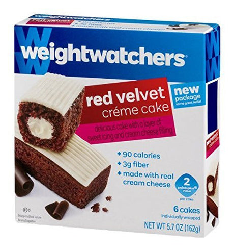 Weight Watchers Red Velvet Creme Cakes, 0.46 Pound