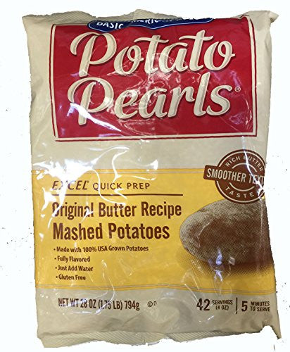 3 pack of 28 oz bags Restaurant Quality! Potato Pearls (Total: 126 servings) Real Potatoes Butter Recipe