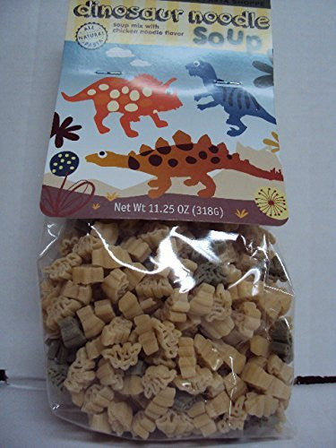 "All Natural ""Dinosaur Pasta with Chicken Noodle Soup Mix"" Makes 10 Cups, Made in USA"