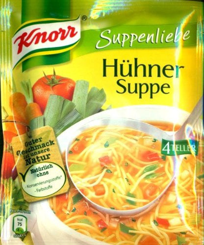 2x Knorr Suppenliebe chicken soup (Hühnersuppe)