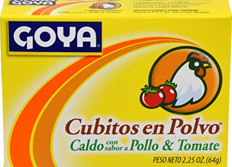 Goya Foods Chicken & Tomato Bouillon, 2.15 Ounce (Pack of 24)