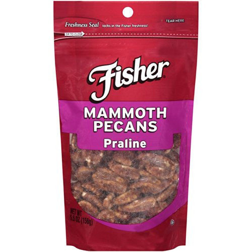 Fisher Mammoth Pecans 5.5 OZ (Pack of 18)