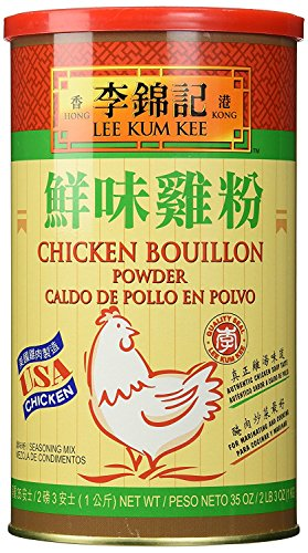 Lee Kum Kee Chicken Bouillon - Chicken Powder (35 oz) + One NineChef Spoon