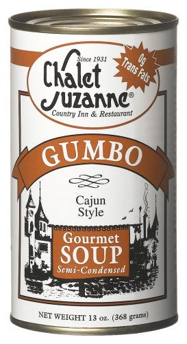 Chalet Suzanne Cajun Style Gumbo Semi-condensed, 13-Ounce Cans (Pack of 6)