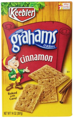 Keebler Cinnamon Graham Crackers, 14-Ounce Boxes (Pack of 6)