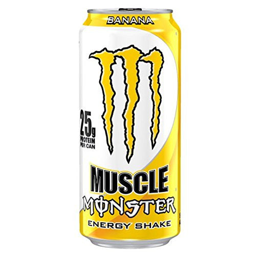 2 - 15oz Cans of Banana Monster Muscle Energy Shake
