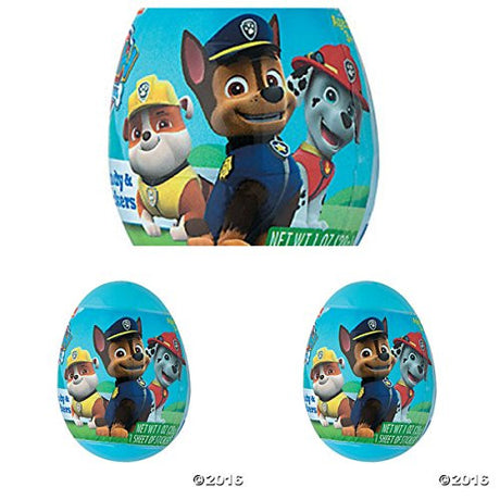 Paw Patrol Easter Eggs filled with Candy and Stickers (Pack of 6)