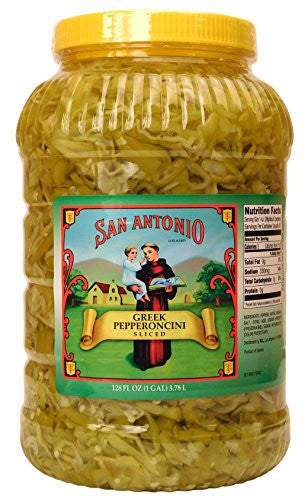1-Gallon Sliced Greek Pepperoncini Peppers, Bulk Restaurant Size