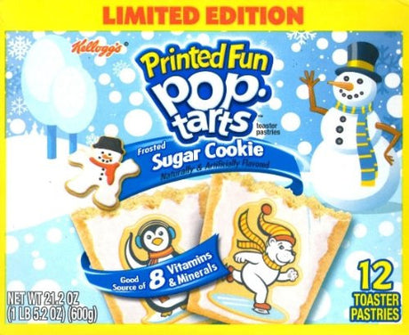 Kellogg's Printed Fun Pop Tarts Frosted Sugar Cookie - Limited Edition, (2 Pack) 12 Pastries