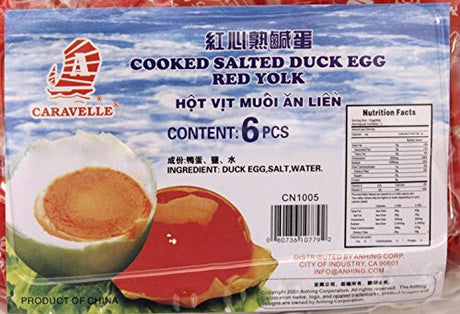 Caravelle Boiled (cooked) Red Core (yolk) Salted Duck Eggs 6pcs