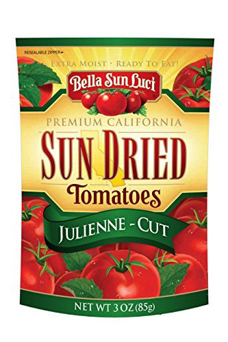3 oz Bella Sun Luci Sun Dried Tomatoes Julienne Cut