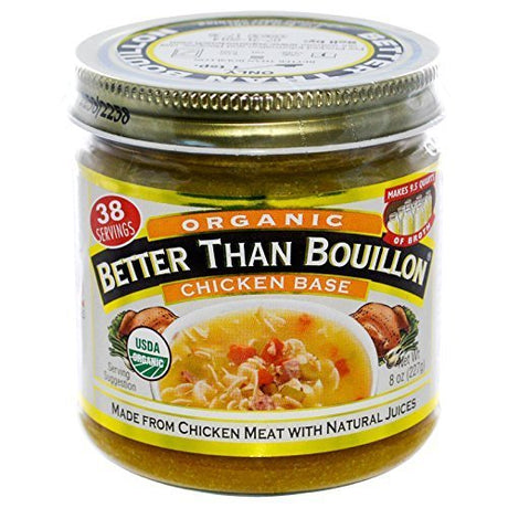 Better Than Boullion Organic Chicken Base, 8 Ounce Jar (Pack of 3)