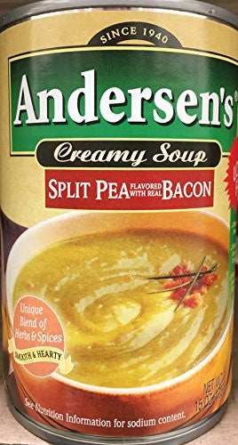 Andersen's Split Pea With Bacon Soup 15oz. can (Pack of 4)