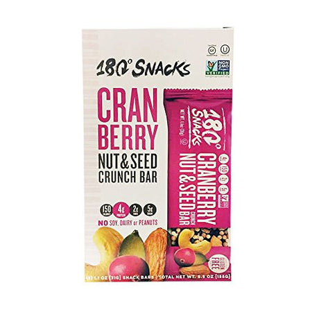 180 Snacks Cranberry Nut & Seed Gluten Free Crunch Bar 5.5oz