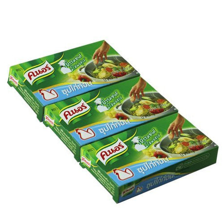 "3 packets ""Knorr "" for soup chicken flavour thailand seasoning"
